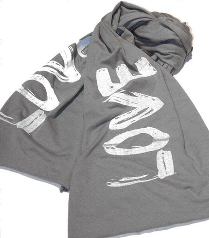 LOVE Jersey Scarf - Silk Screen Printed