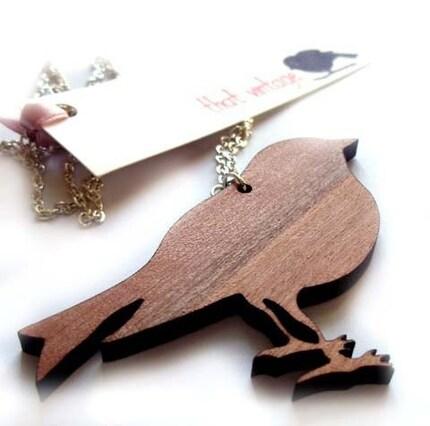 FREE SHIPPING - That Vintage Bird Pendant - Tasmanian Myrtle