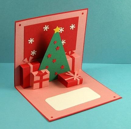 Новогодние открытки объемная своими руками