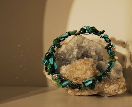 Sea Wire Bracelet encrusted with Swarovski crystals