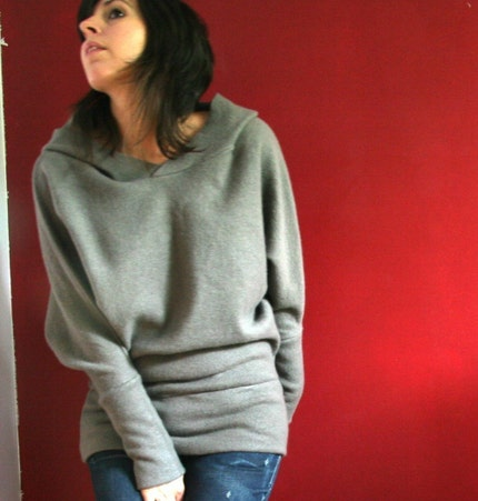 Sandmaiden Wool Knit dolman sleeve hoody - made to order