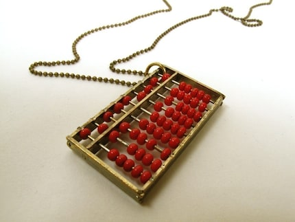 Red Abacus Necklace by mrsdazo on Etsy from etsy.com