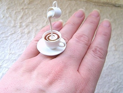 Kawaii Cute Japanese Ring  Tea With Cream by SouZouCreations from etsy.com