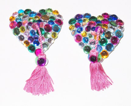 Bejewelled Heart Nipple Tassel Kit