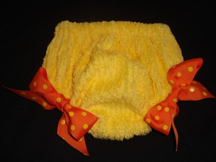 Bright Yellow Chenille Bloomers
