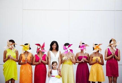 A New Take on Bridesmaid Bouquets via TheELD.com