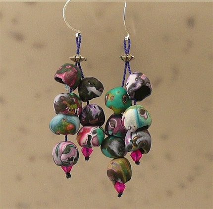 Fun, Flirty Polymer Orb Earrings