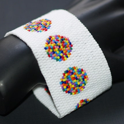 Bowls of Confetti - Peyote Bracelet / Cuff (3086)