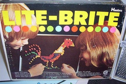 Vintage Hasbro Lite Brite Toy with 10 NEW refills and pegs