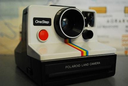 Vintage Polaroid One Step Land Camera Rainbow
