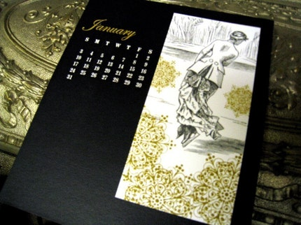 elegant black, gold and white prints, via inkadinkadoodle, USD$16