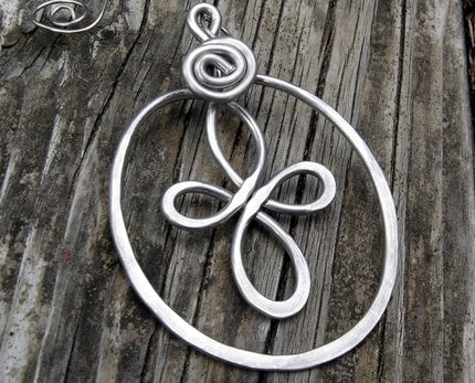 Celtic Loops Spiral Cross Ornament