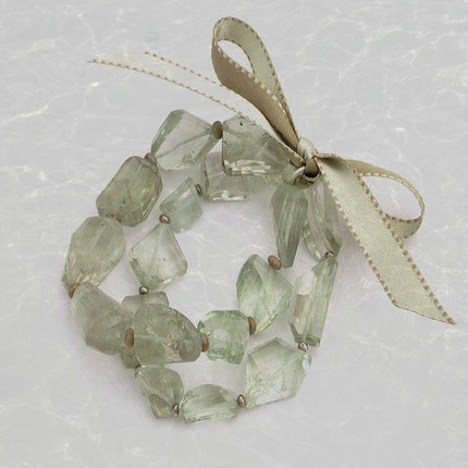 Green Amethyst Duo Bracelet