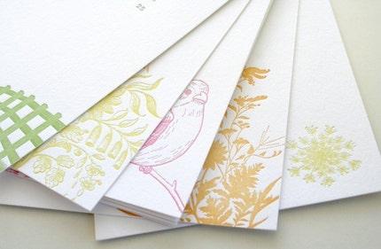 letterpress floral calendar, via sarahparrott825, USD$28
