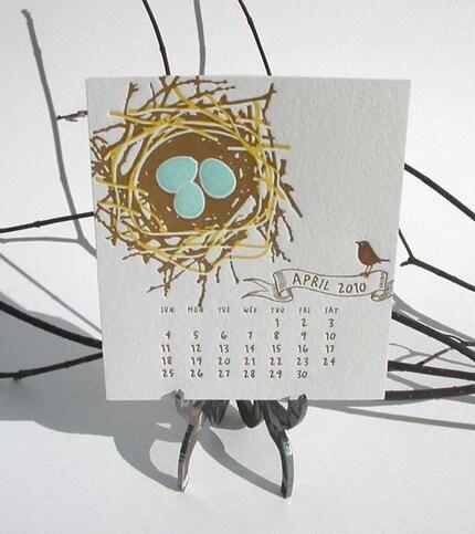 Famous letterpress calendar, via ilee, USD$22