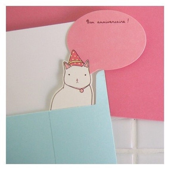 paper doll card - amelie
