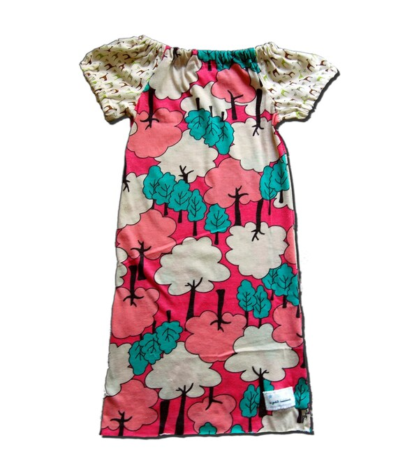 MOD GIRAFFES DRESS - Mod Giraffes in the Forest - Dress for Baby or Toddler