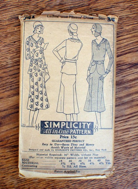 Very Old Simplicity 1920's Pattern