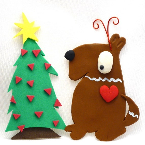 Max the Gingerbread Dog Ornament