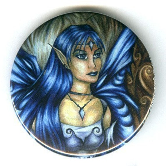 Winter . fairy fantasy art pinback button