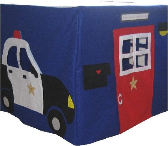 Police Station Card Table Playhouse, Custom Order, Personalized