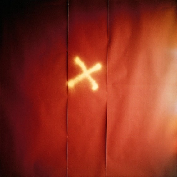 X Marks The Spot Red - 10x10 Archival Quality Print (alternative sizes on request)