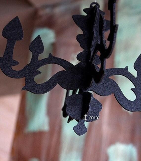 Black Felt Chandelier