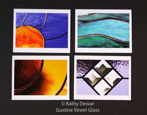 Stained Glass Photography Blank Note Cards - set of 4