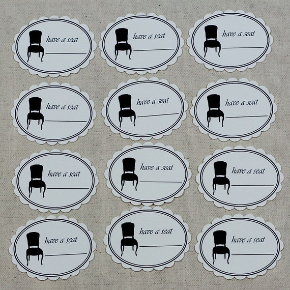 Have A Seat Tags
