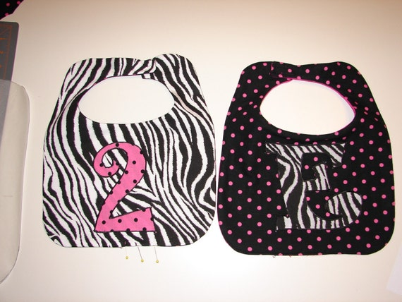 Hip Hop Lollipop Initial Or Birthday Bib Custom Order Yours