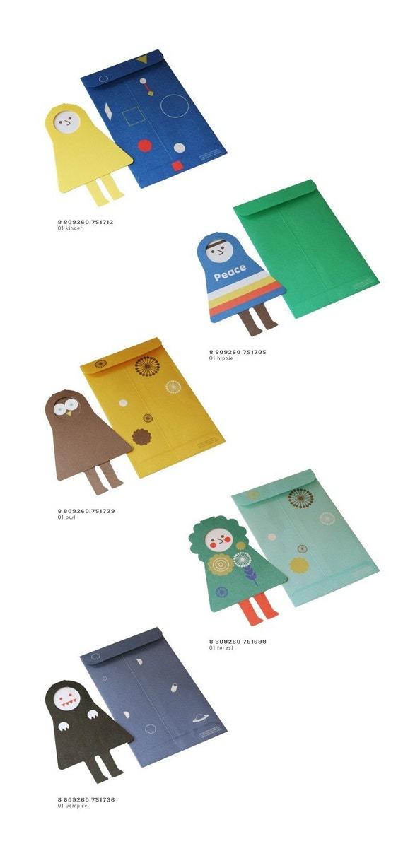 SPACEMAN FOLDING CARD - 5 Different Designs