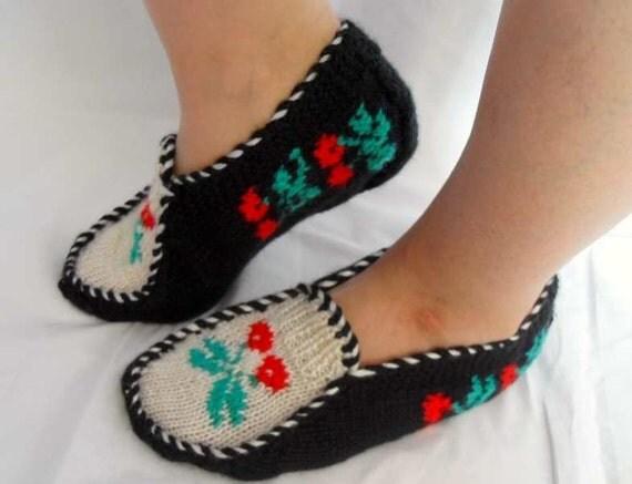 دست گره دمپایی صفحه اصلی گیلاس -- سنتی ترکیه طراحی و کریسمس هدیه زمستان مد Teamt