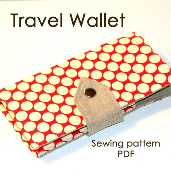 Travel Wallet,   PDF sewing pattern