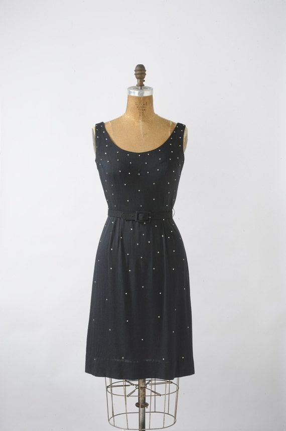 Stella by Starlight Black Rhinestone Wiggle Dress