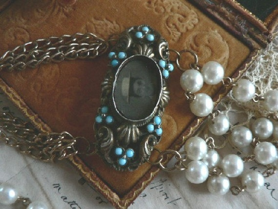 EFFIE A Necklace Refashioned of Vintage Whatnots  OOAK Upcycled