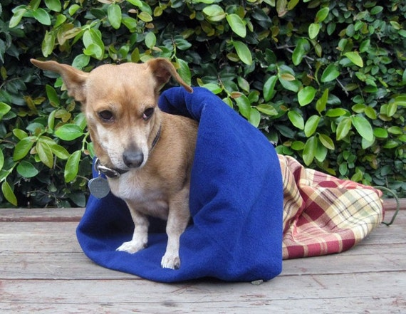 Pet Bed, Sleeping Bag, Cozy Fleece
