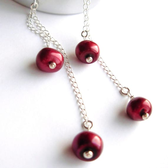 Cherry Dangle . Earrings