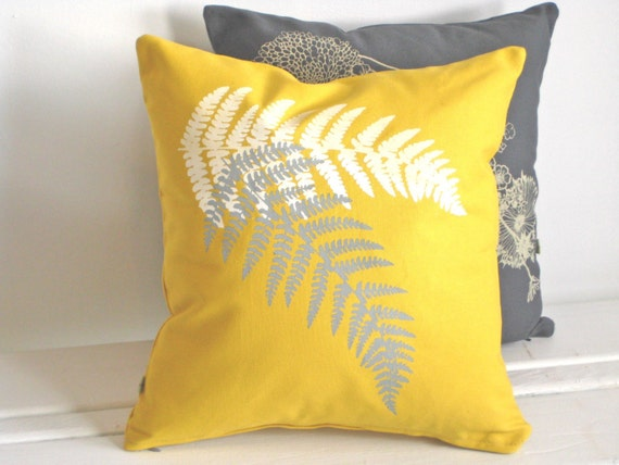 Yellow Fern Pillow