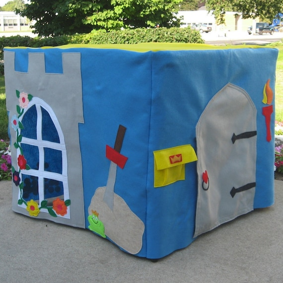 The King's Castle Card Table Playhouse, Custom Order, Personalized, Includes A Crown for the King