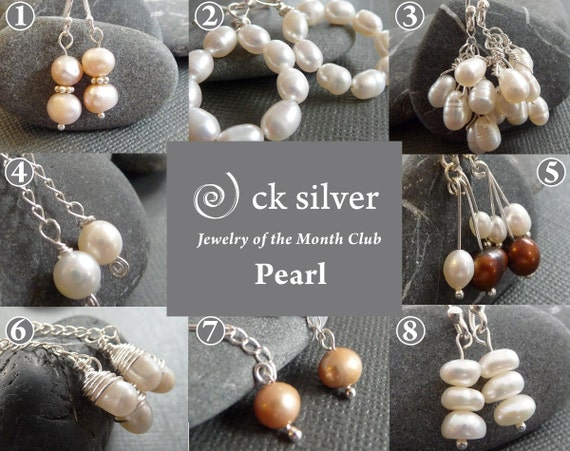 Pearl Jewelry of the Month Club - 3 Month Earring Sampler