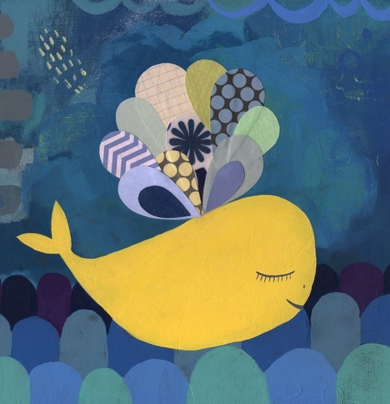 sweet yellow whale