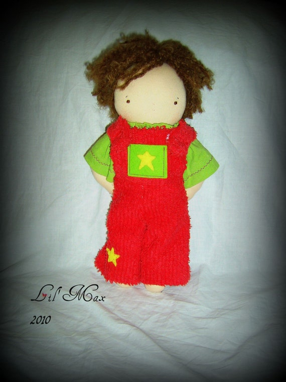 Lil' Max, 12 inch doll made from natural materials CLEARANCE SALE