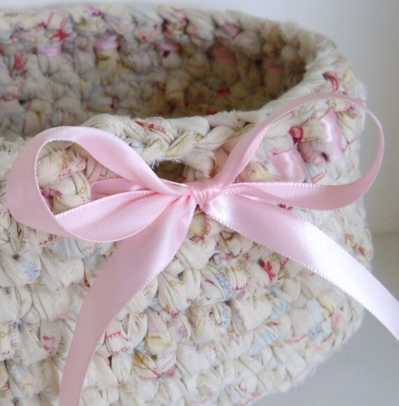 Shabby Chic and Earth Friendly Basket