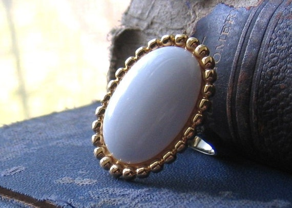 Classic Oval Rescued Vintage Earring Ring