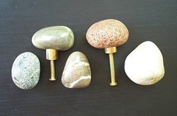 Stone knobs , handles, drawer pulls