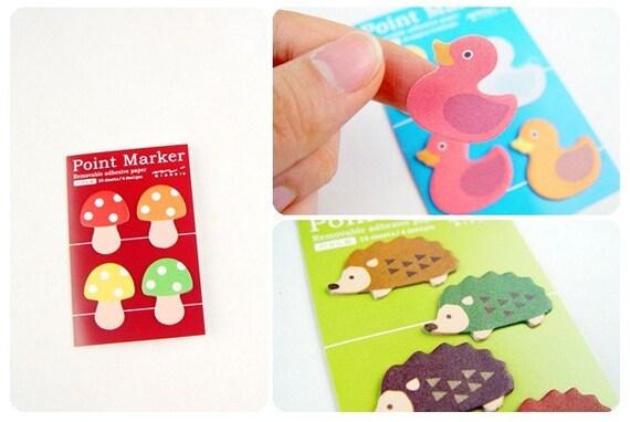 Japanese Point marker - hedgehog  (4 design each 10sheets)