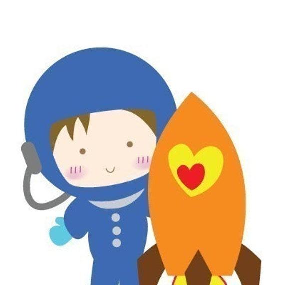 astronaut clip art. Astronaut Digital Clip Art