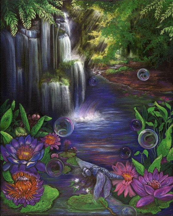 Bubbling Serenity -ORIGINAL
