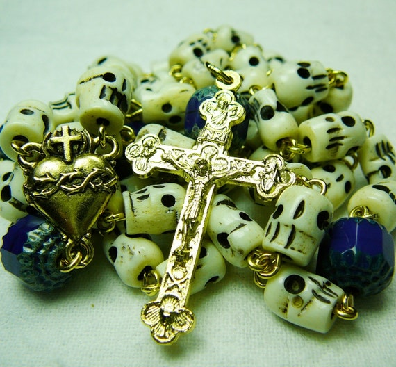 Bone and Blue Rosary