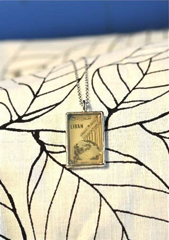 Libyan Stamp Necklace